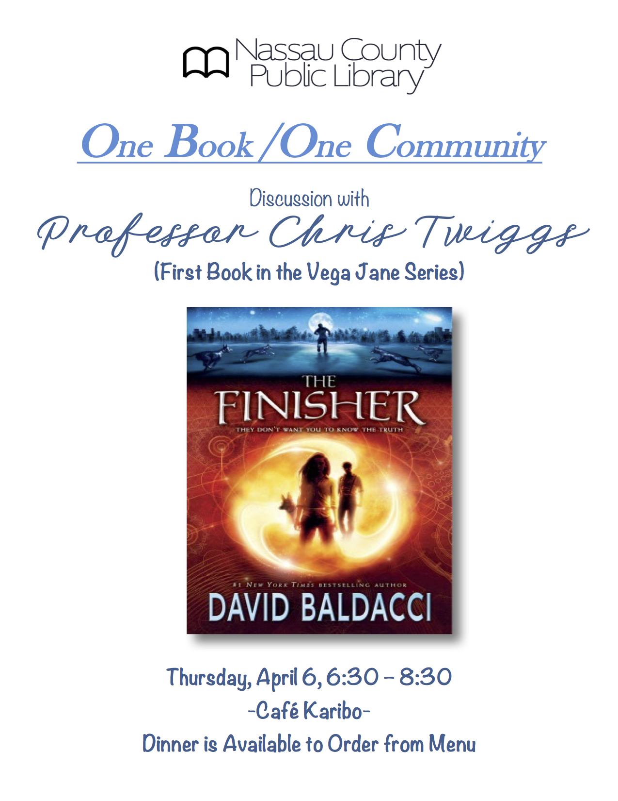 The Finisher Book Discussion April 6