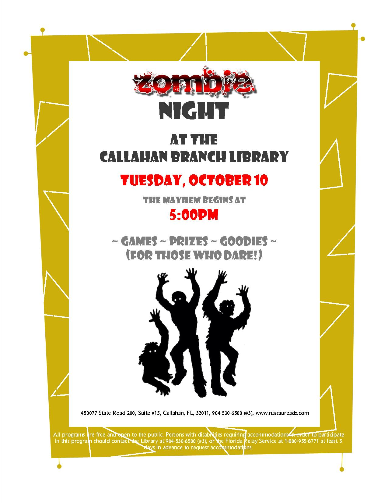October 10 - Zombie Night