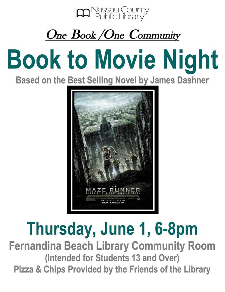 Book to Movie Night June 1