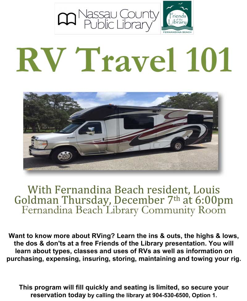 RV Travel Basics December 7th at 6:00pm
