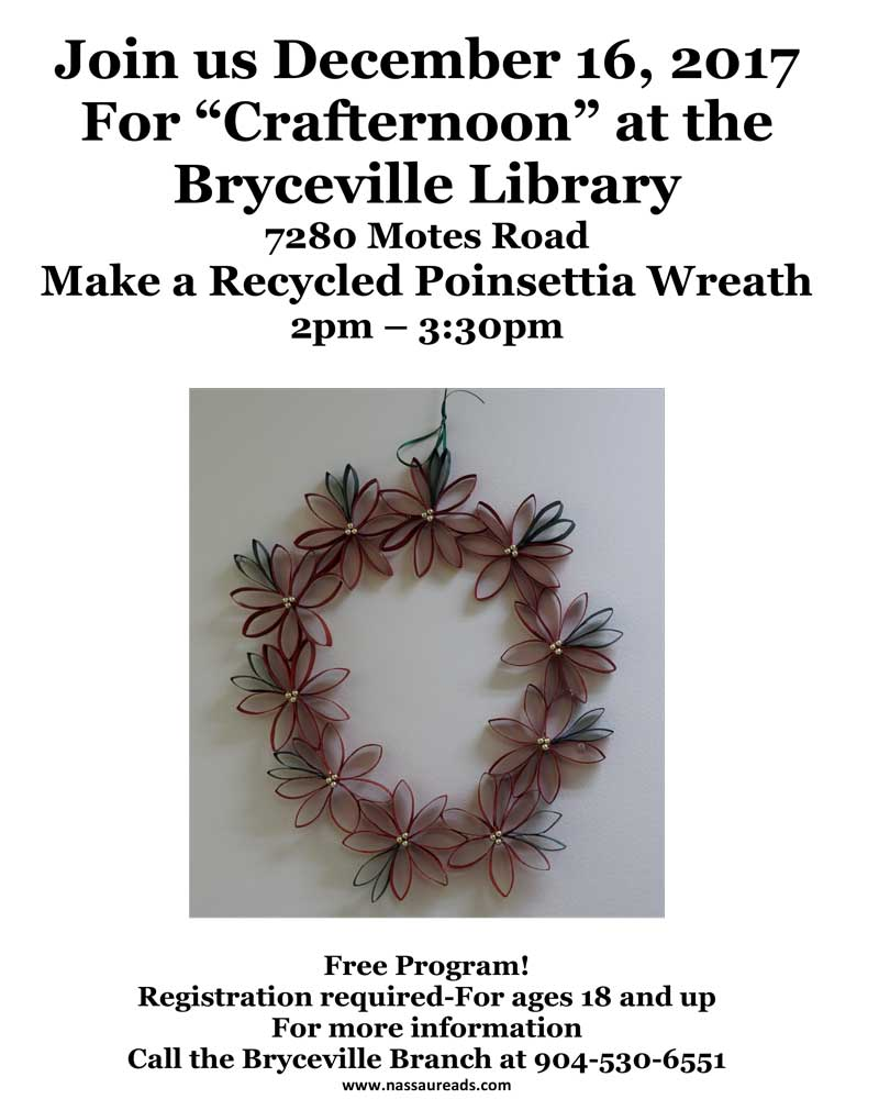 Crafternoon at the Bryceville Library