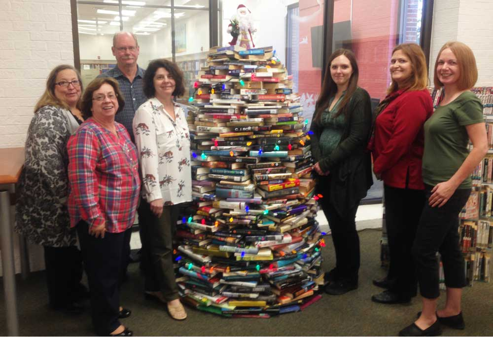 Staff with a Book Tree