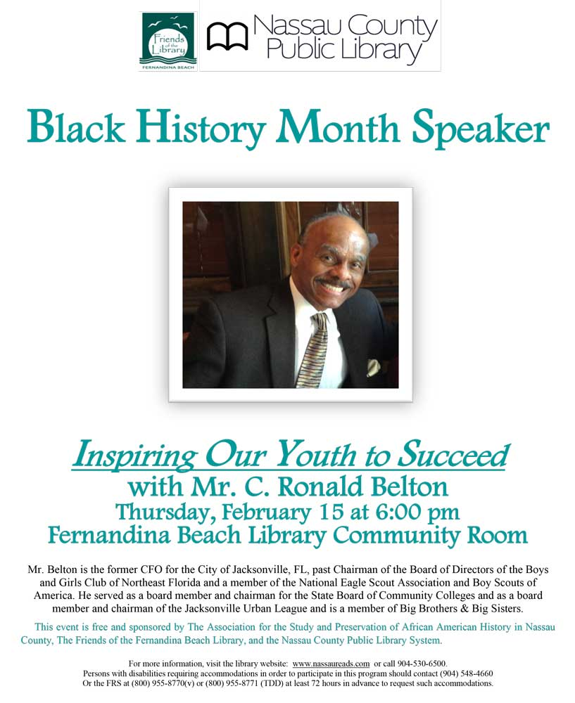 Mr. C. Ronald Belton on February 15 at 6pm