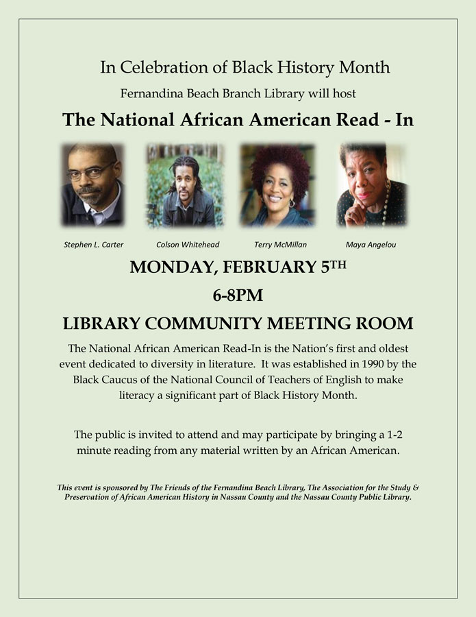 February 5 National African American Read-In