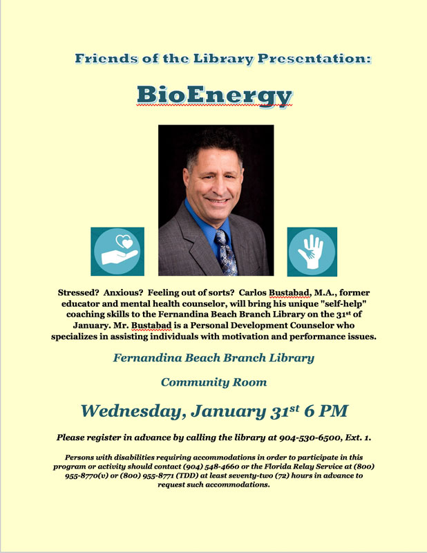BioEnergy Program on January 31 at 6pm.