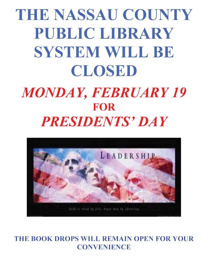 Closed for President's Day.