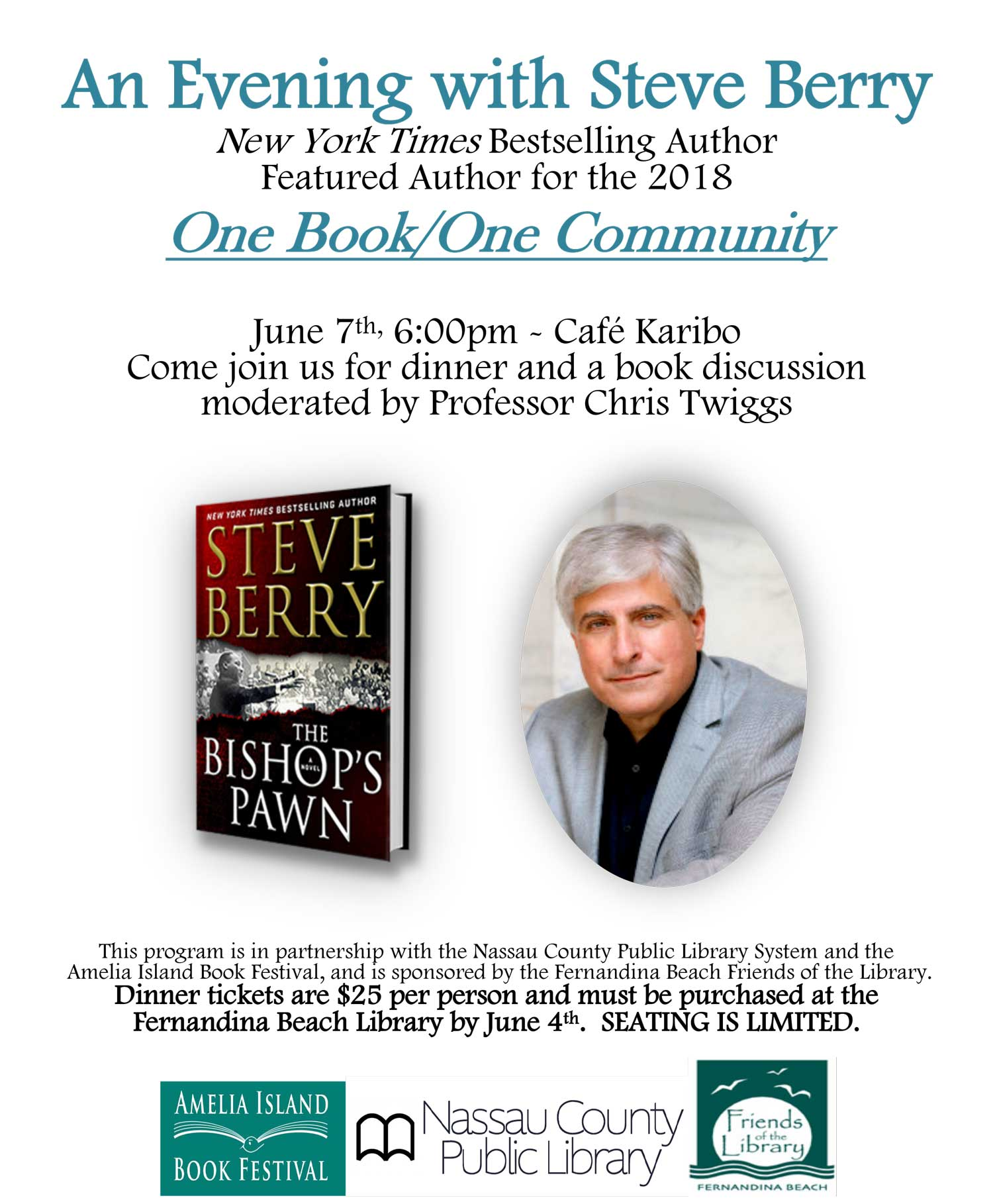 June 7 One Book Kick Off Event
