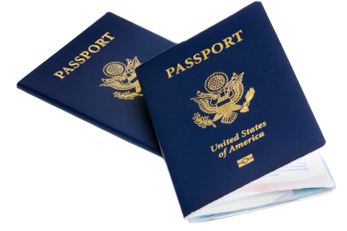 Image of two passports - decorative