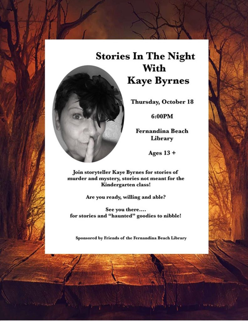Stories in the Night With Kaye Byrnes October 18 at 6pm.
