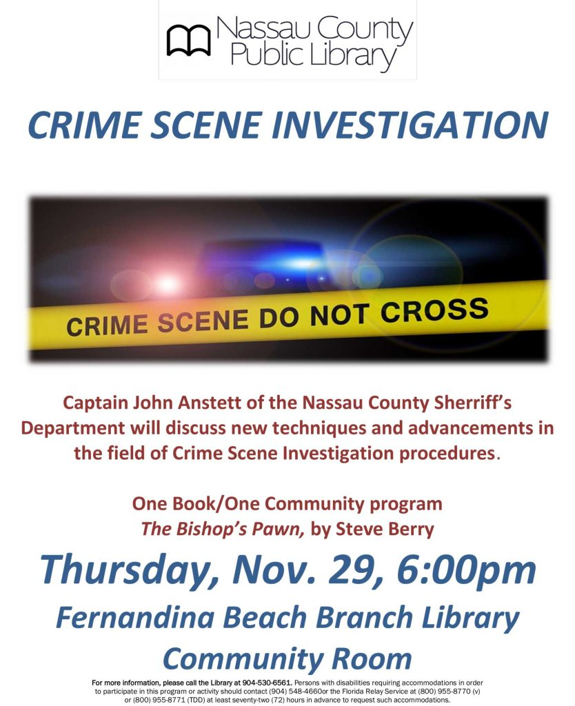 CSI Program on November 29 at 6pm