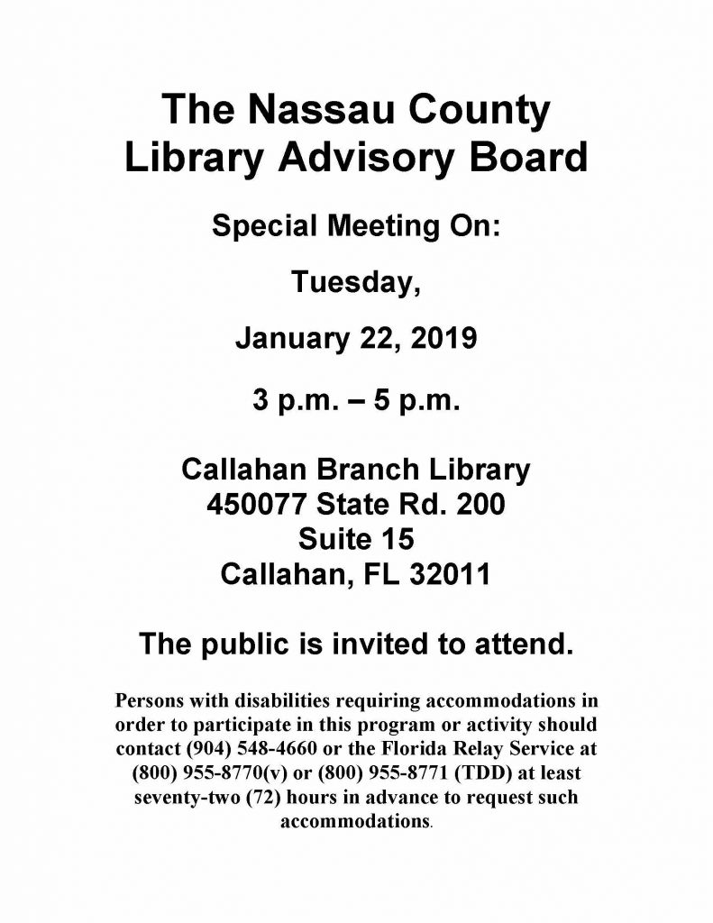Board Meeting Flyer
