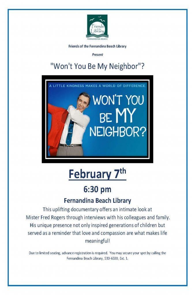 Won't You Be My Neighbor February 7