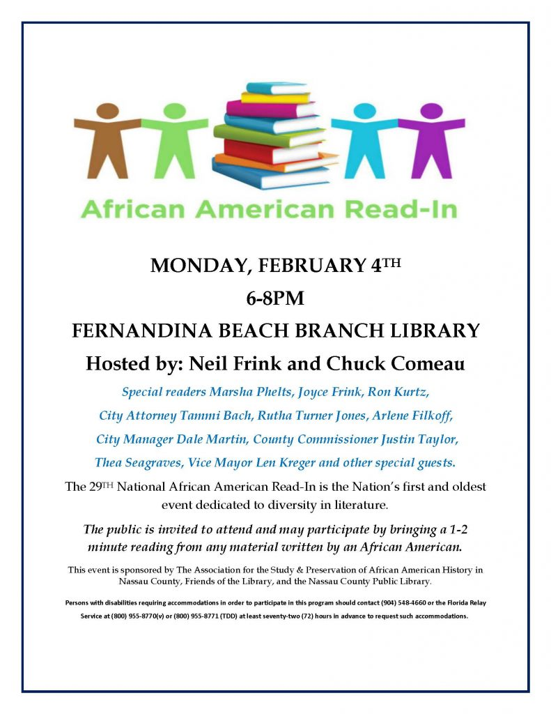 February 4 African American Read-In