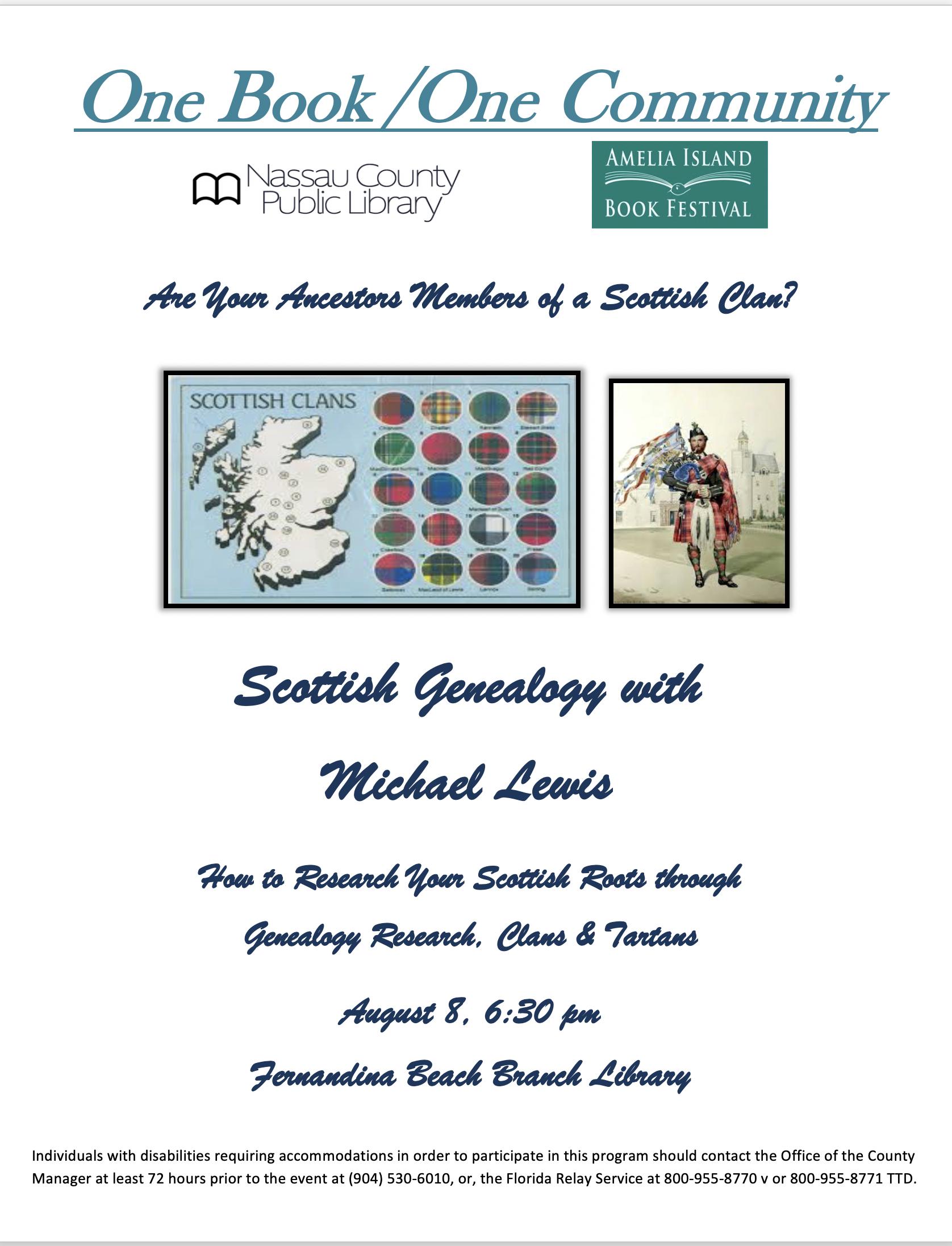 Scottish Genealogy with  Michael Lewis