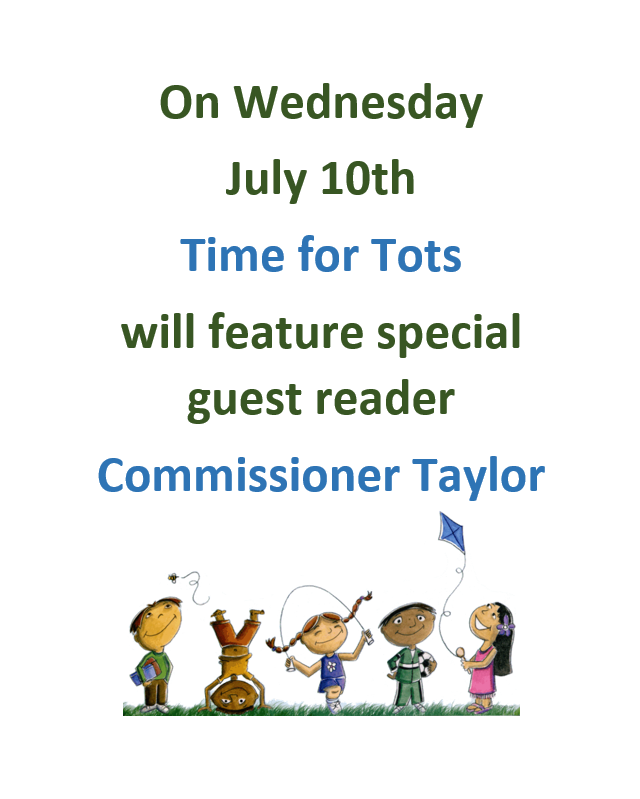 Time for Tots July 10 2019 Flyer