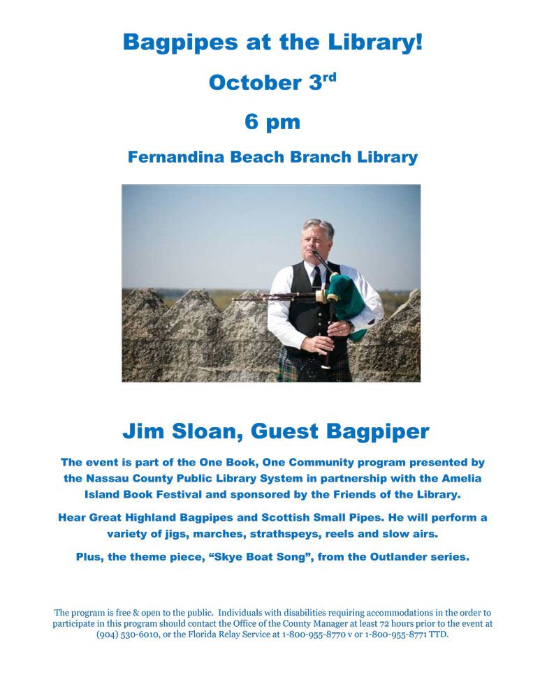 bagpipes at the library