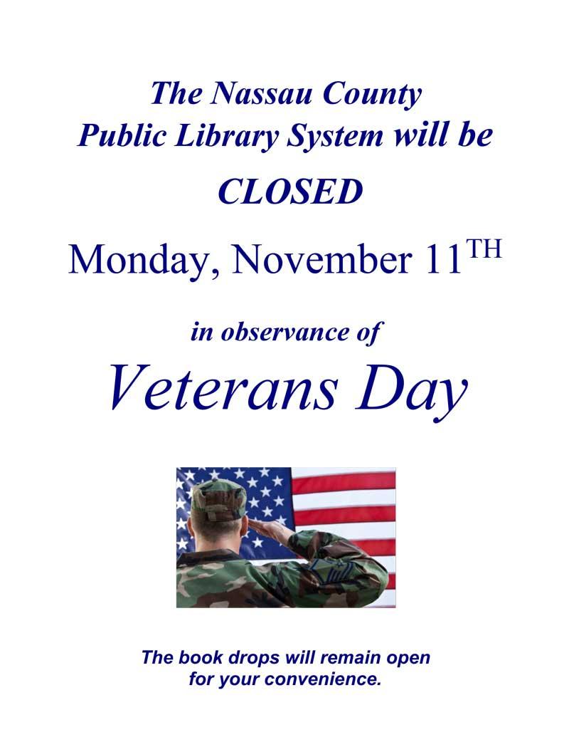 2019 Veterans Day Flyer