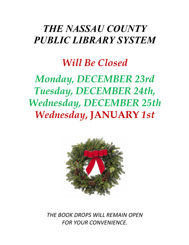 Library Holiday Closings
