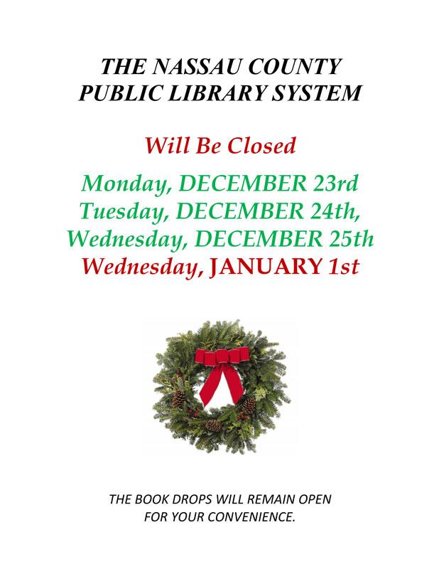 Library Holiday Closings