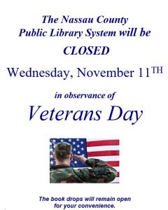Library closed for Veterans Day Nov 11