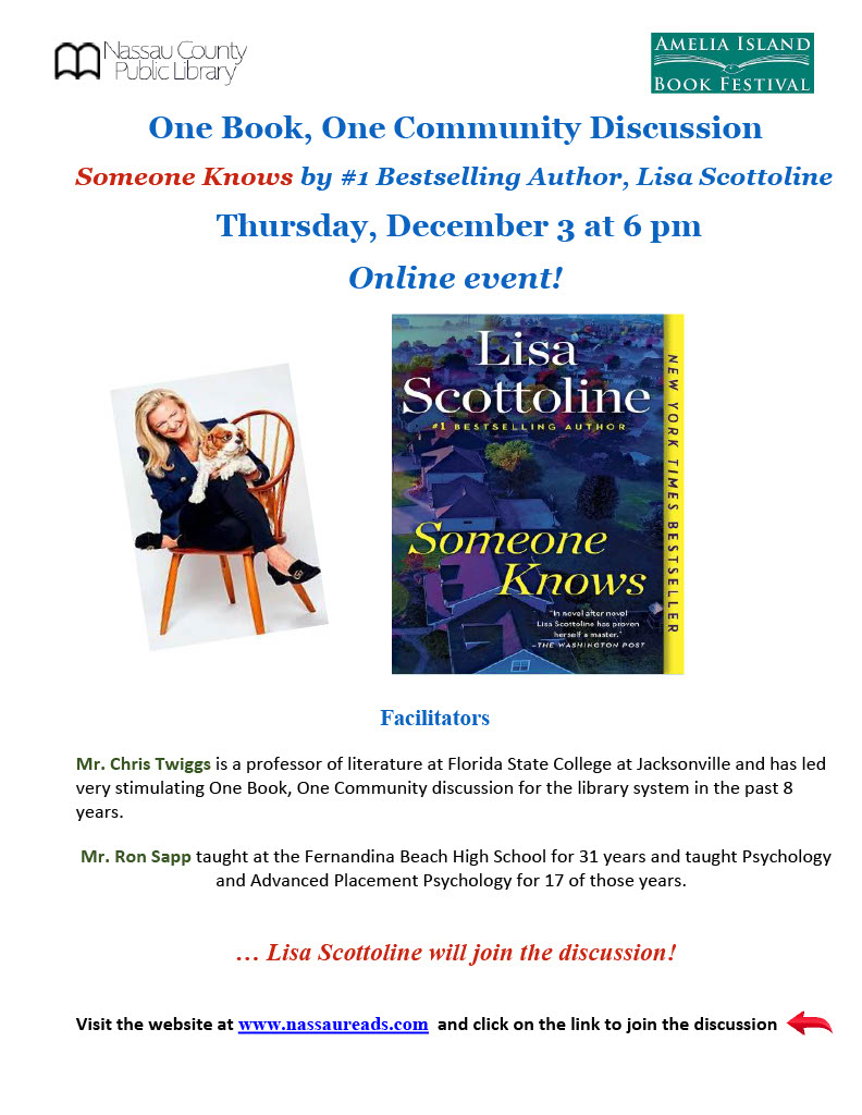Lisa Scottoline online discussion December 3 6pm