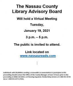 Library Advisory Board Meeting January 18