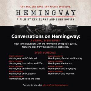 Conversations on Hemingway Schedule
