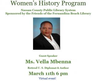 Vella Mbenna program March 11 6pm