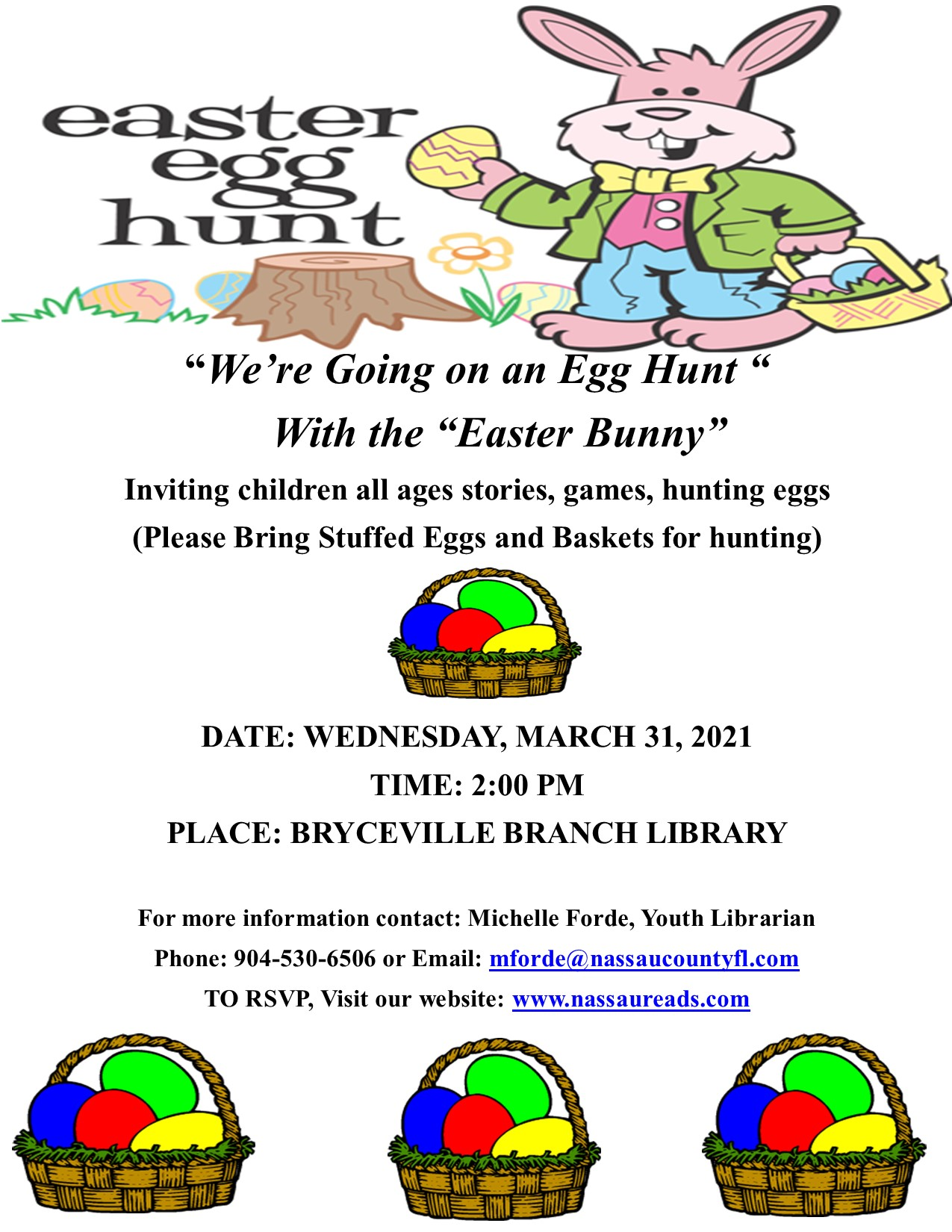 Bryceville Family Egg Hunt on March 31st