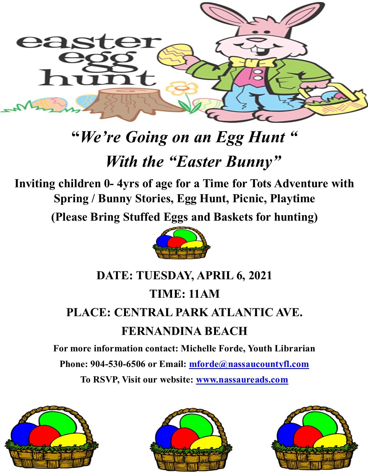 Fernandina Beach Easter Egg Hunt on April 6