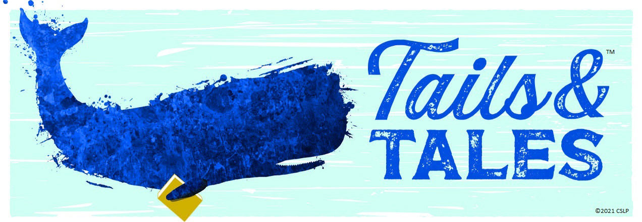 2021 Summer Reading Banner - Tails and Tales with Blue Whale