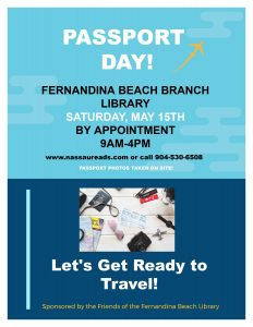 Passport Day May 15 9am to 4 pm