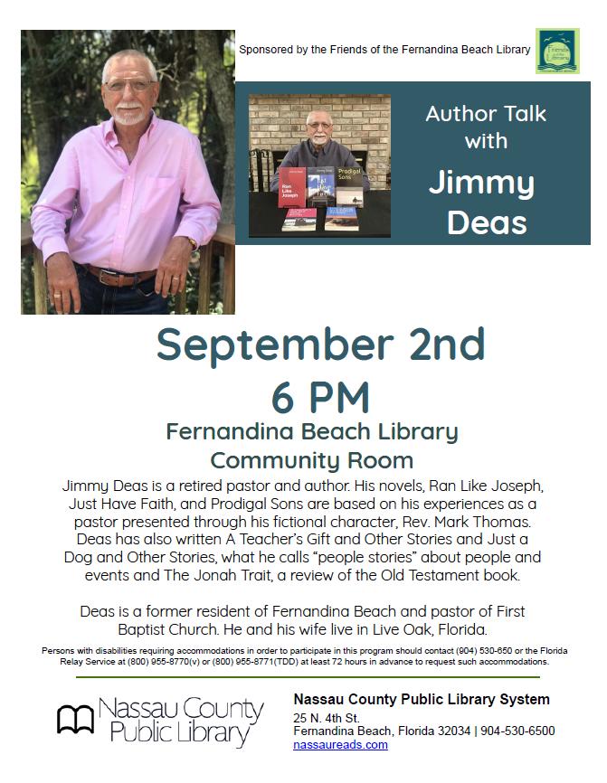 Author Talk with Jimmy Deas