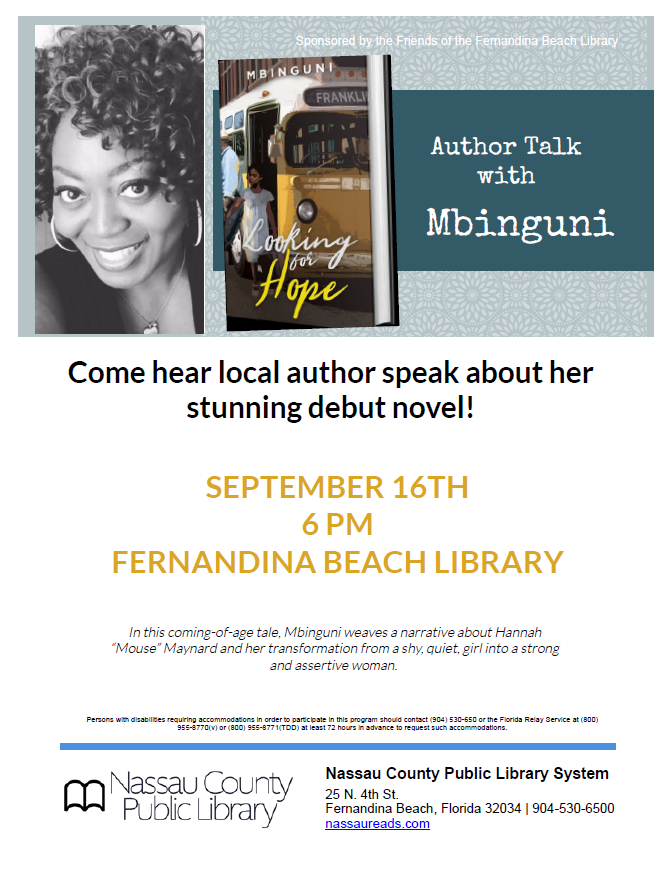Author Talk with Mbinguni about her debut novel.