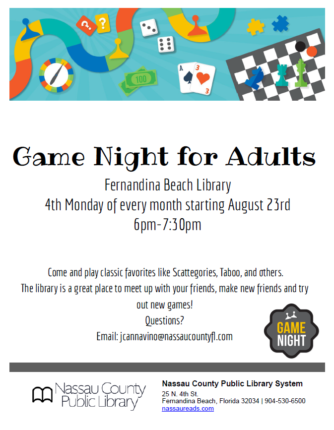 Game night for adults poster