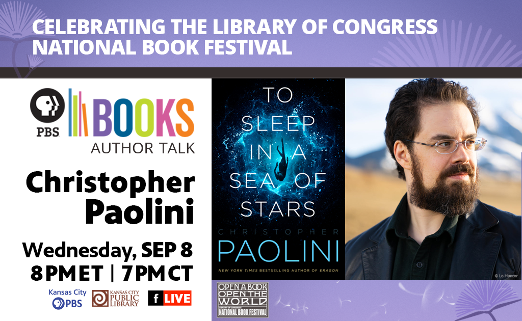 Author Christopher Paolini September 8th at 8PM