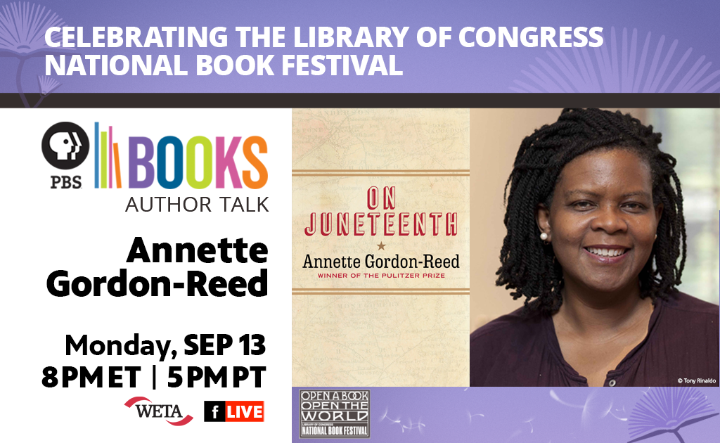PBS Books presents this Author Talk with Annette Gordon-Reed on September 13