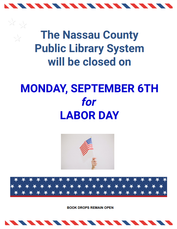 The Library will be closed for Labor Day