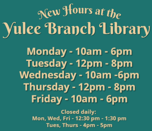 New Hours at Yulee!